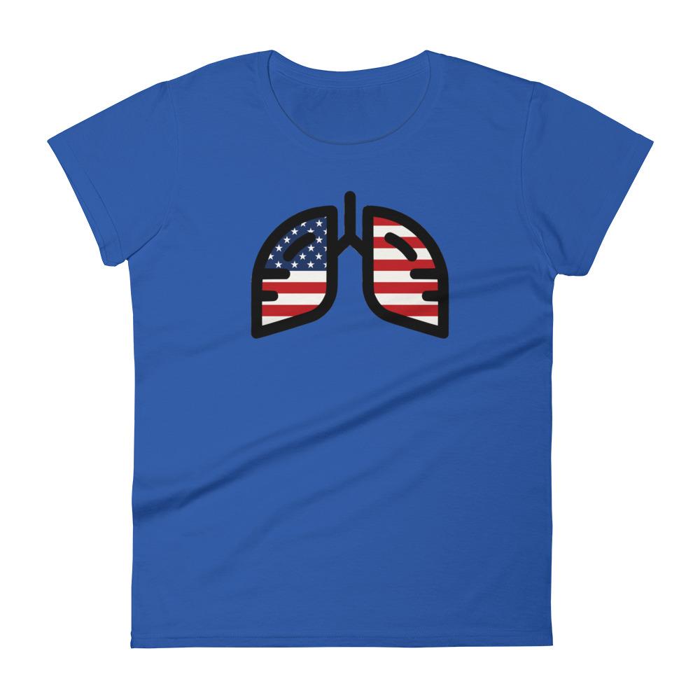 Ladies Breathing USA T-Shirt