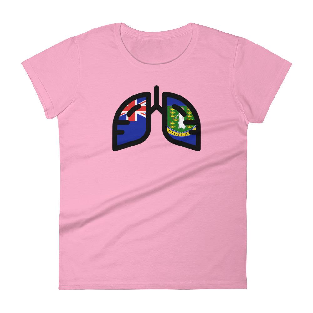 Ladies Breathing British Virgin Islands T-Shirt