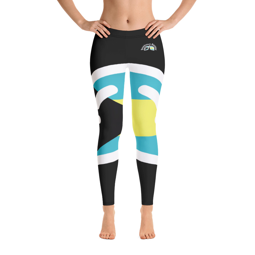 Breathing Bahamas Black Leggings
