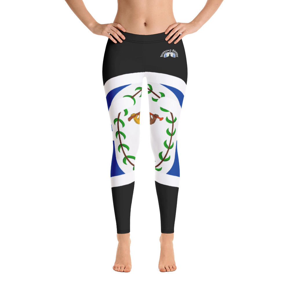 Breathing Belize Black Leggings