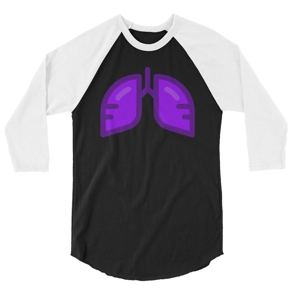 Neon Purple Icon 3/4 Sleeve Shirt