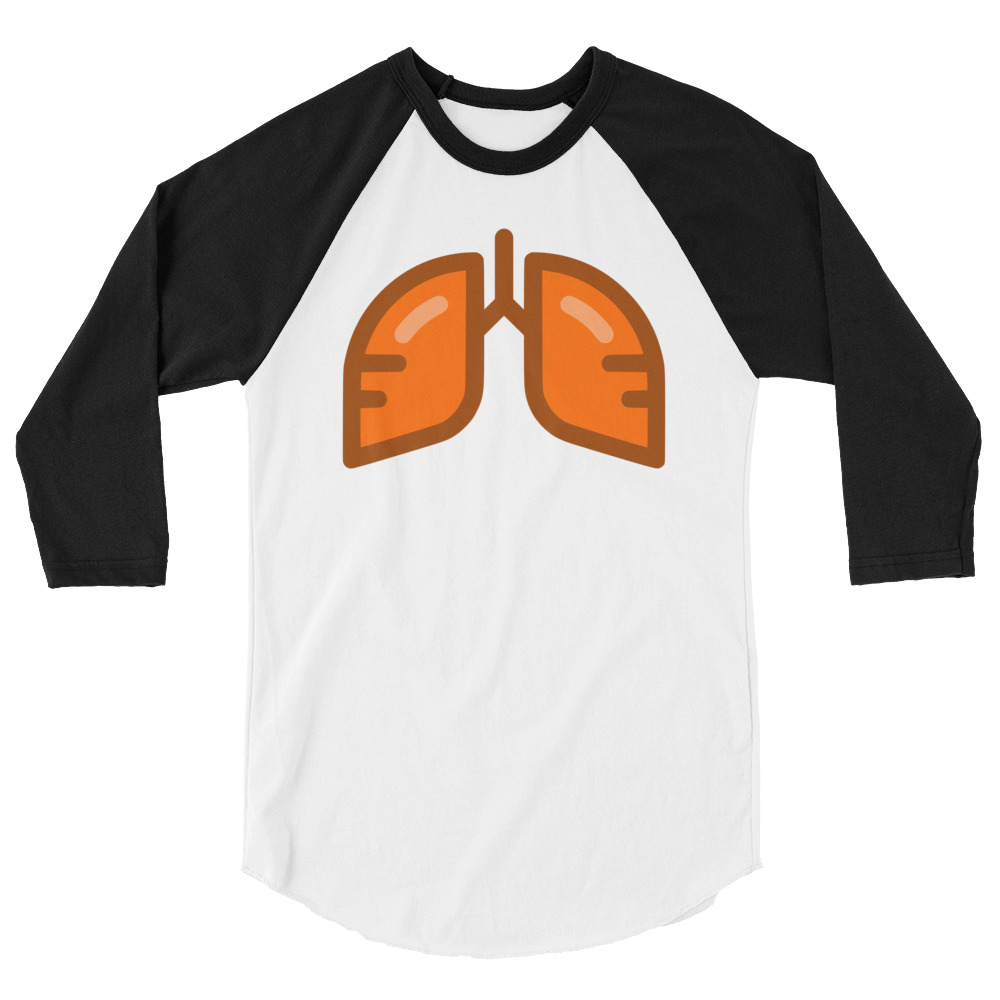 Neon Orange Icon 3/4 Sleeve Shirt