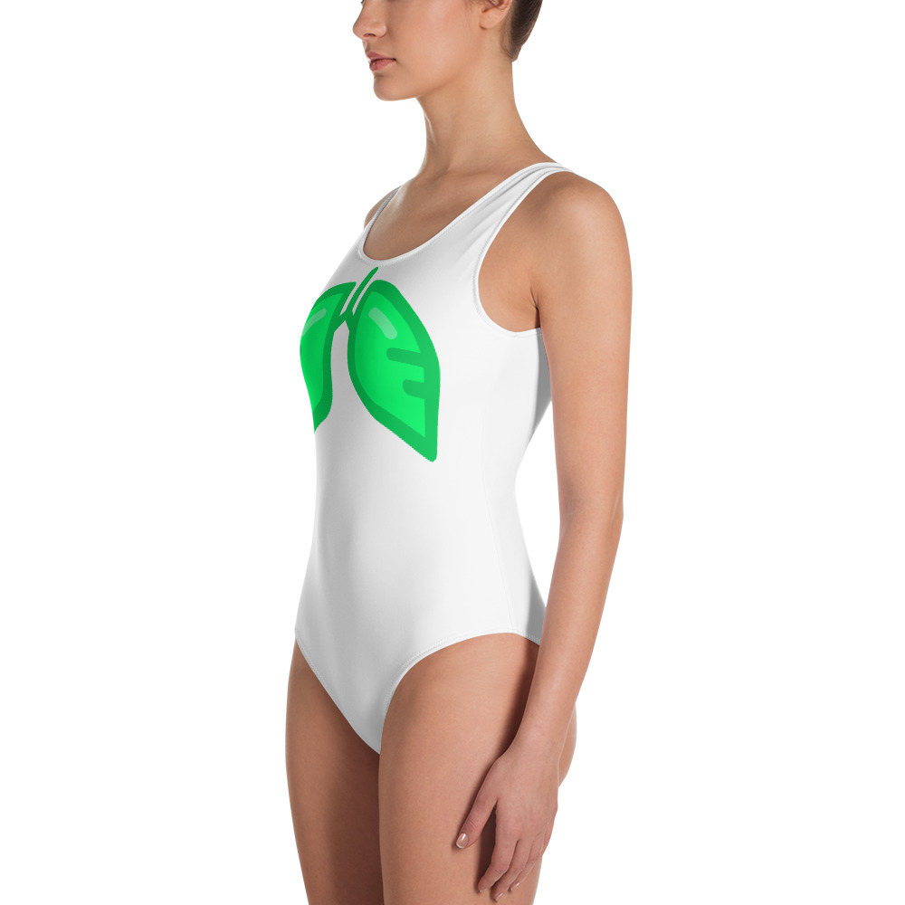 Neon Green Icon One-Piece Swimsuit