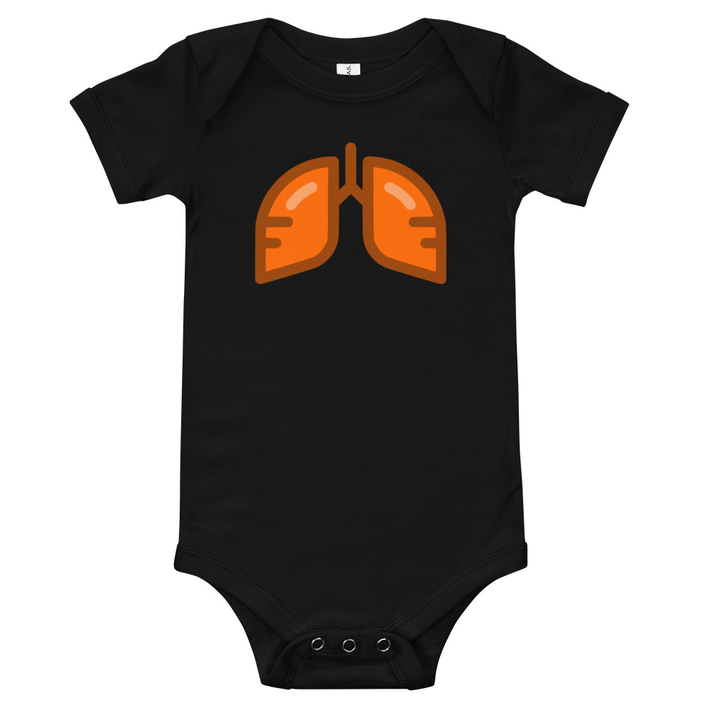 Neon Orange Icon Baby Bodysuit