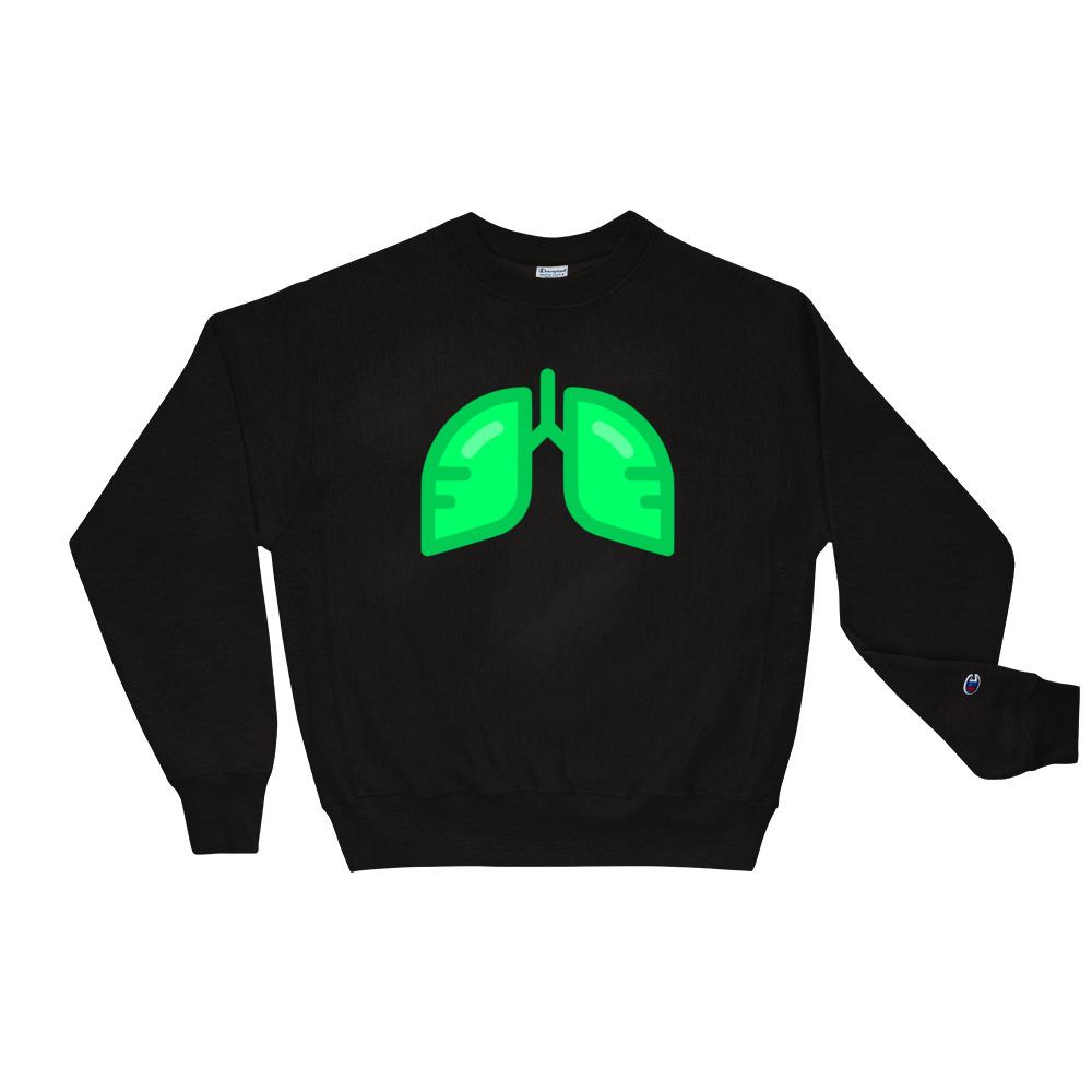 BB Neon Green Champion Sweatshirt