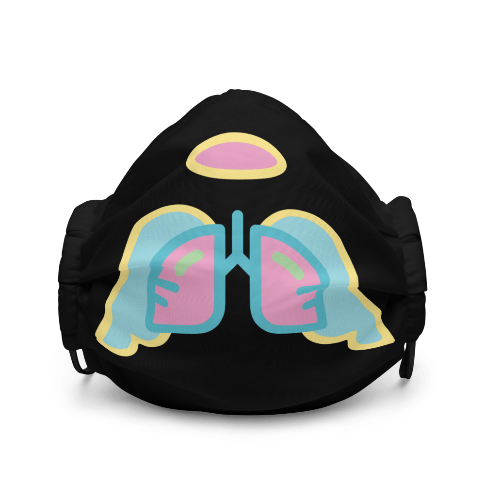Easter Wing Icon Premium Black Face Mask