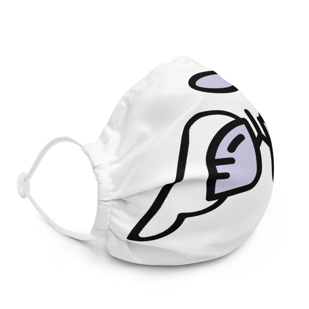 Periwinkle Wing Icon Premium Face Mask