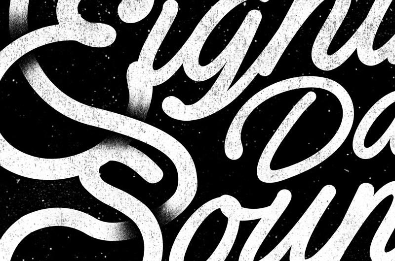 8th Day Sound, Tshirt Design, Illustration, Touring, Poster, Words, Sound, TExt, Font, Design, Handdrawn Font