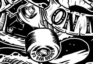 Edison MFG, Don't Shred On Me, Illustration, Graphic Design, Toronto, Snake, Skateboariding, T-shirt, Graphic, trucks, wheels, art