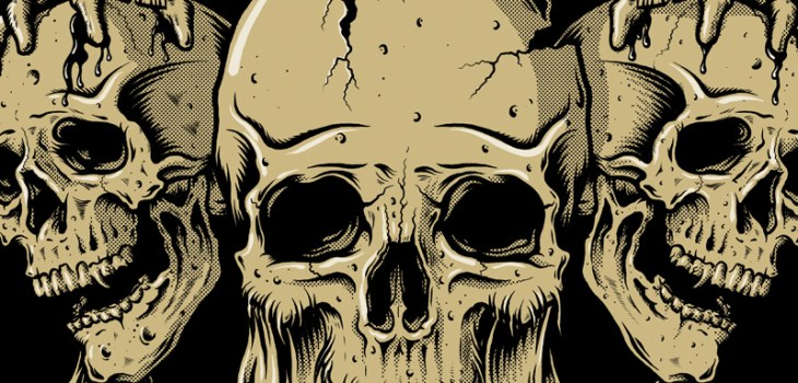Metal Hammer, Paradise Festival, Tshirt design, Illustration, Toronto, Skulls, Beard, Axe, Graphic Design, Heavy Metal