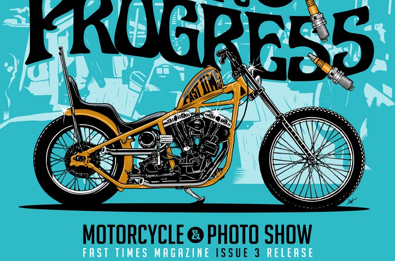 Work In Progress, Harley Davidson, Fast Times Magazine, Illustration, Choppers, Motorcycle Show, Logo Design, Poster, Layout, Toronto