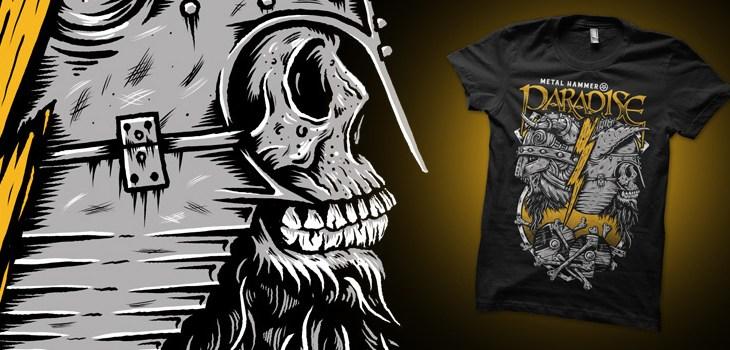 Metal Hammer Magazine, Heavy Metal, Metal music, Paradise Festival, 2016, Vikings, Skulls, Zombies, Illustration, T-shirt, Graphic Design, Toronto
