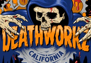Deathworkz, Haunted House, Logo Design, Illustration, Skull, Grim Reaper, Logo, Graphic Design, California, Halloween, Haunt, Breath Of Fresh Air Design, Toronto