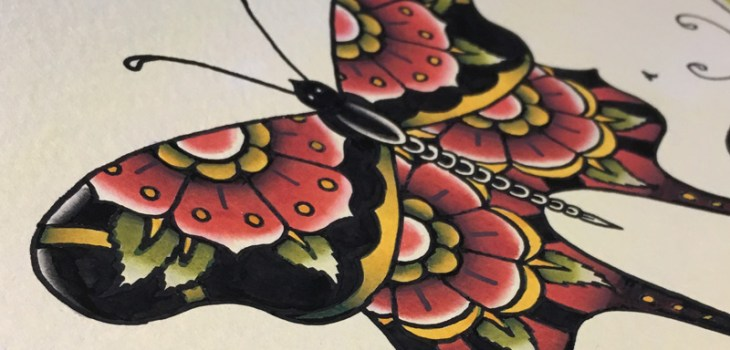 Tattoo flash, Butterflies, Watercolor, painting, tattoo, tattoos, waterpaint, spit shading, Graphic Design, Illustration, Art, Toronto, Breath Of Fresh Air Design, Bofagroup