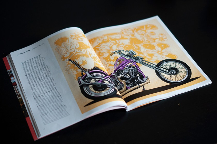 Fast Times Magazine, Choppers, Feature, Motorcycles, Magazine, Interview, Illustrator, Toronto, Graphic Design, Freedom Machine, Ford, Edison MFG, Sissy Bar Bag, Rolling Chaos, Gasoline, Bobber, Artist Profile, Breath Of Fresh Air Design,