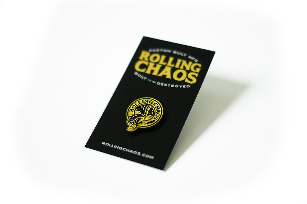 Rolling Chaos, Breath Of Fresh Air Design, Enamel Pin, Snake, Pin, Tattoo, Kustom ARt, Illustration, Graphic Design, Brand, Serpent