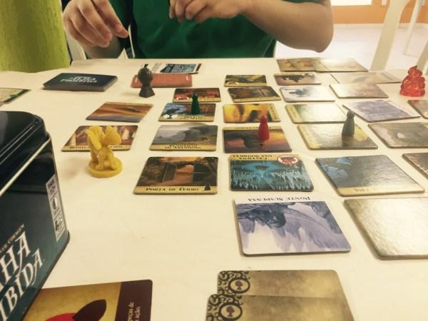 """Jogo """"A Ilha Perdida"""" que nós estávamos jogando"""