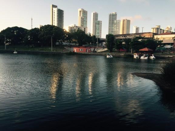 Vista da Lagoa Manoel Felipe enquanto estava jogando