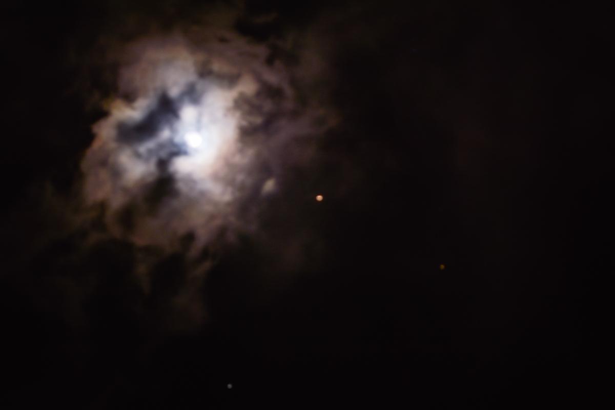 A lua, os planetas e a estrela (Foto: Lara Paiva/Carol Paiva)