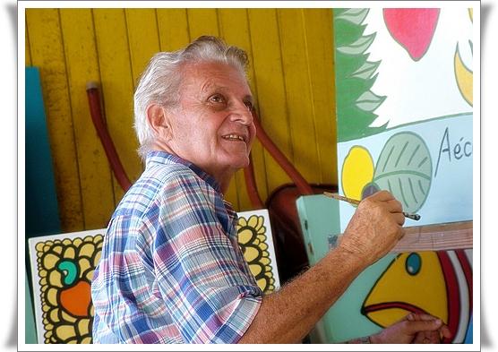 O artista Aécio Emerenciano (Foto: Novo Jornal)