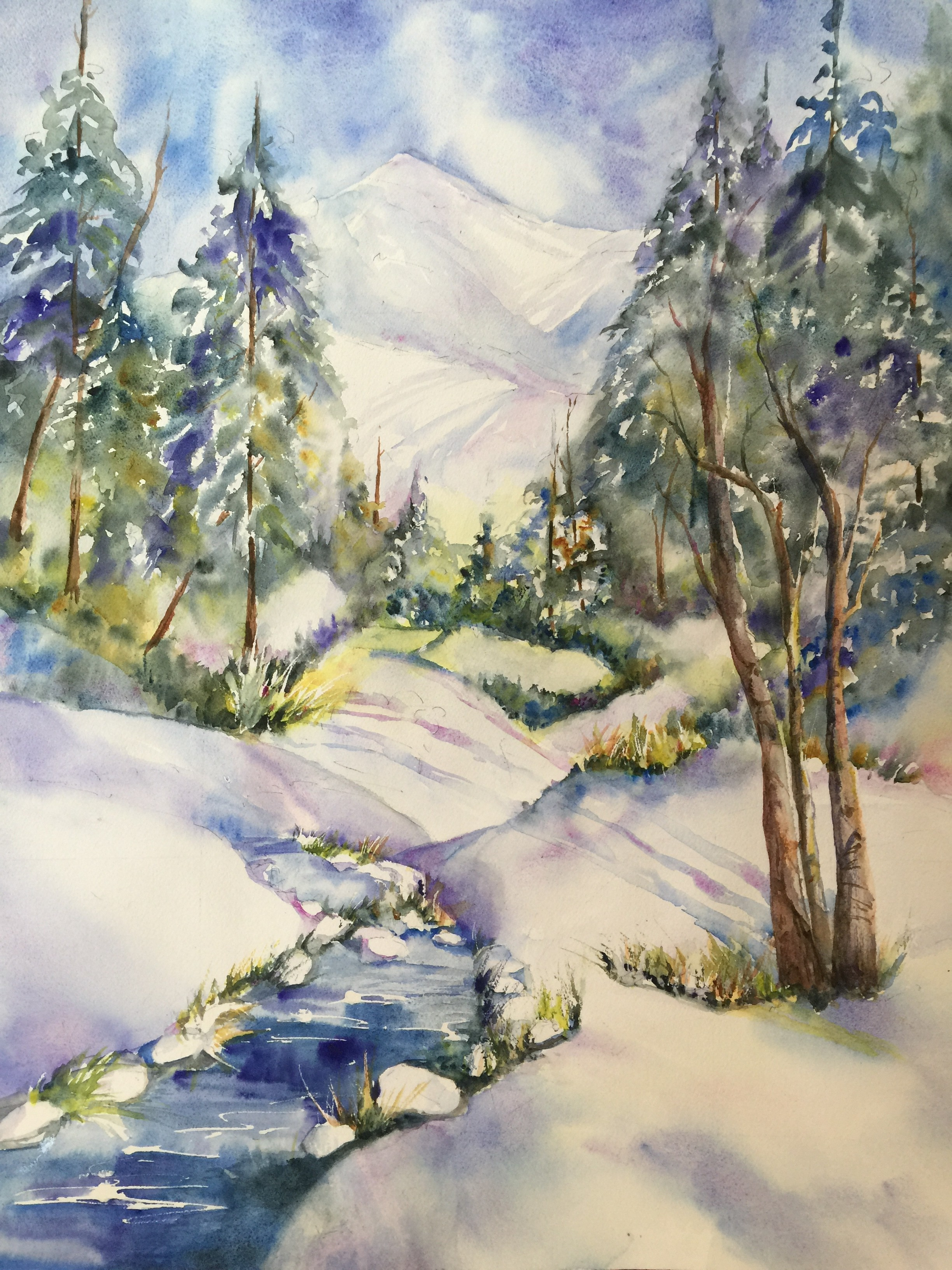 Painting Winter Landscapes With Emily Wahl BreckCreate