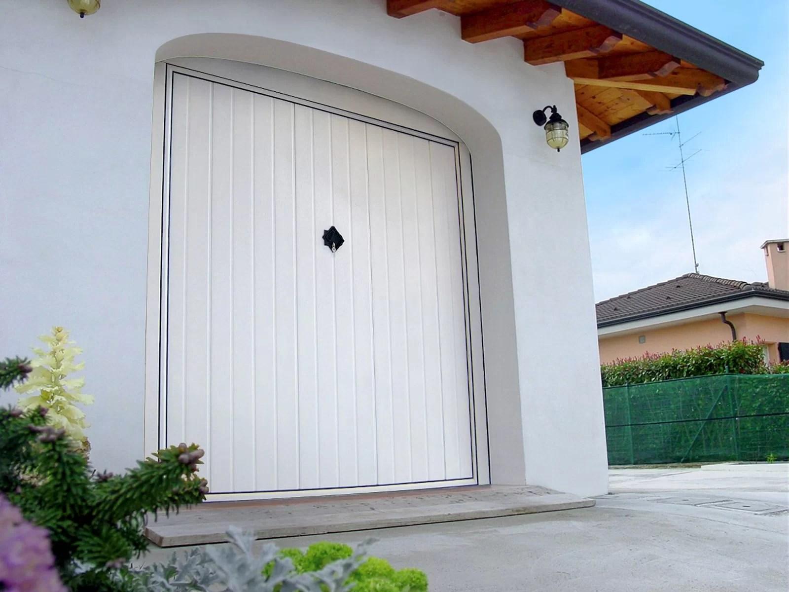 Portone basculante da garage BASCULINO - Stucco bianco C81 Verticale