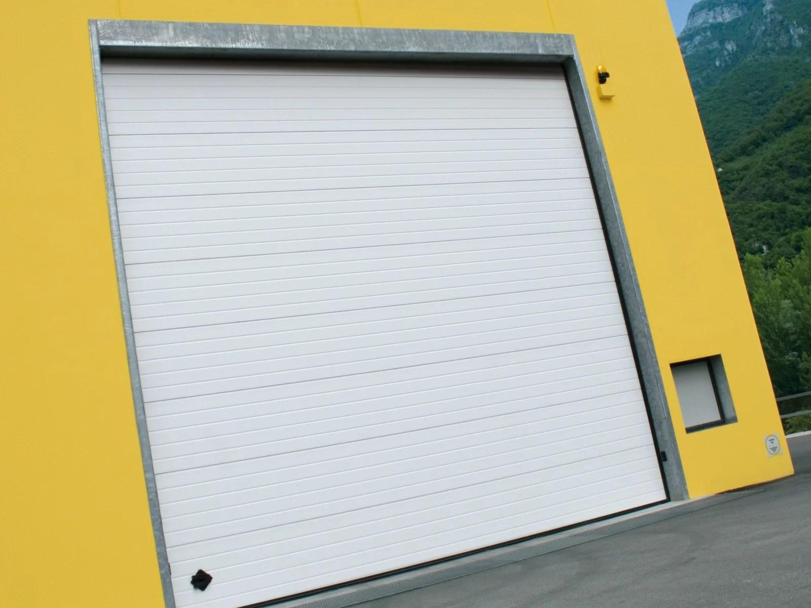Portone sezionale industriale DOCK - Stucco bianco C21