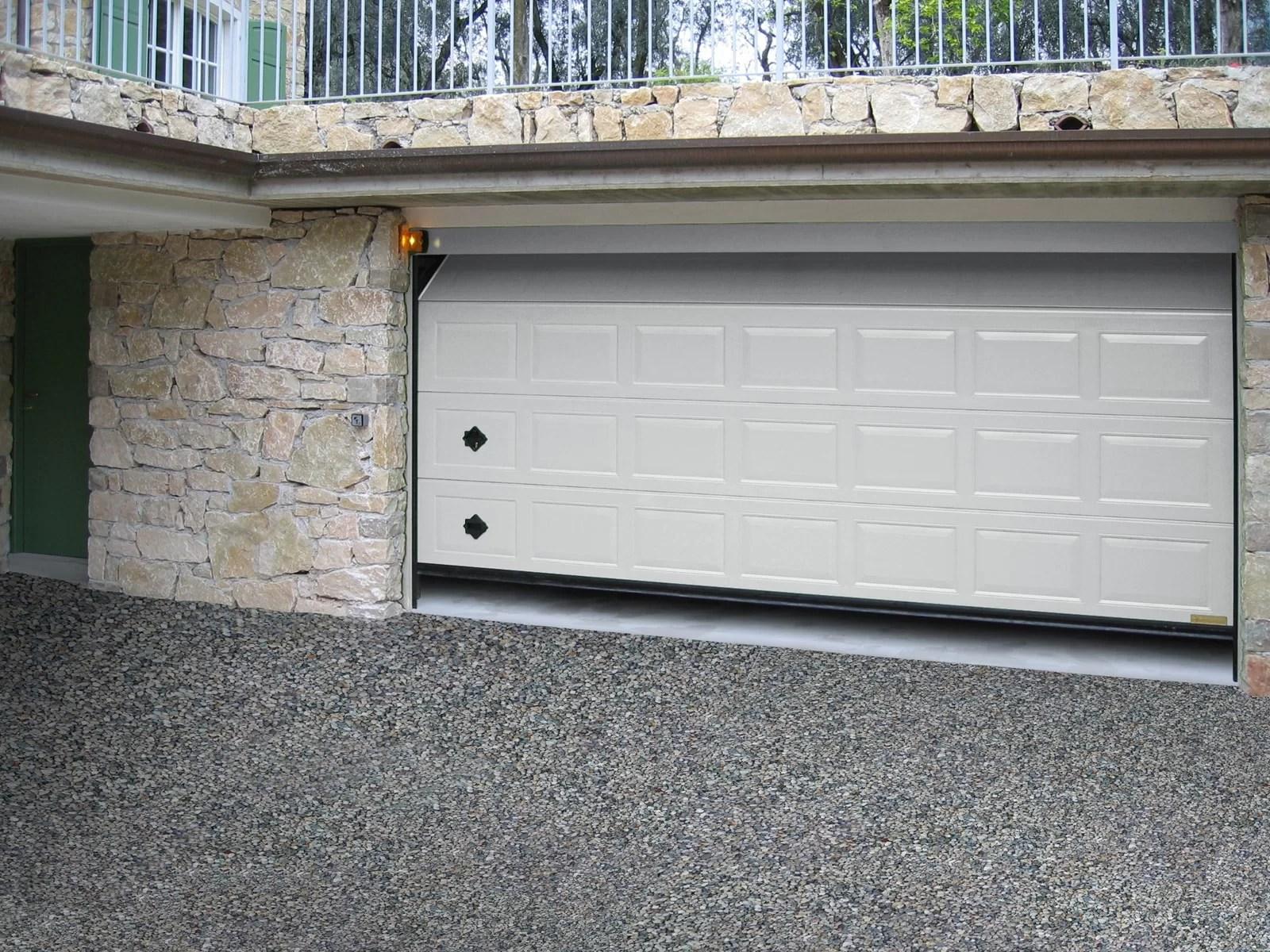 Portone sezionale da garage ATHES - Liscio bianco