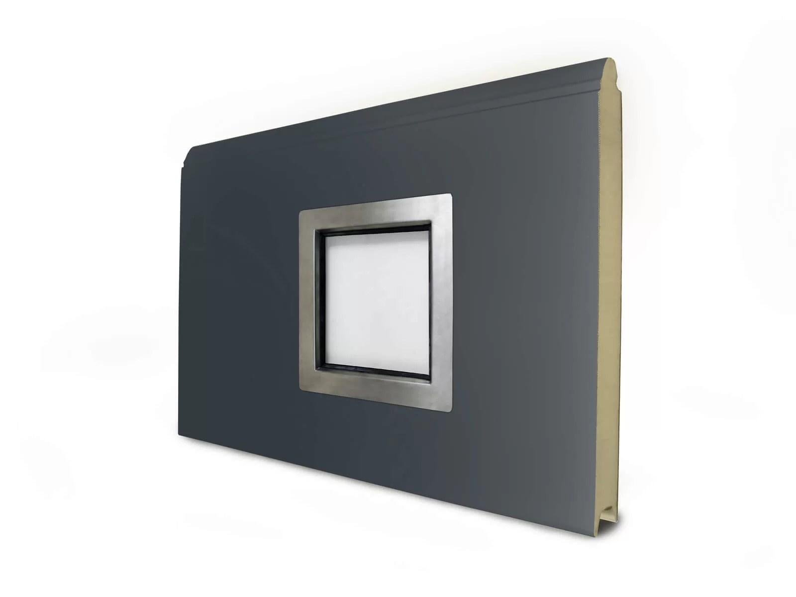 Oblò quadrato piccolo in Acciaio Inox - Portoni da Garage Breda