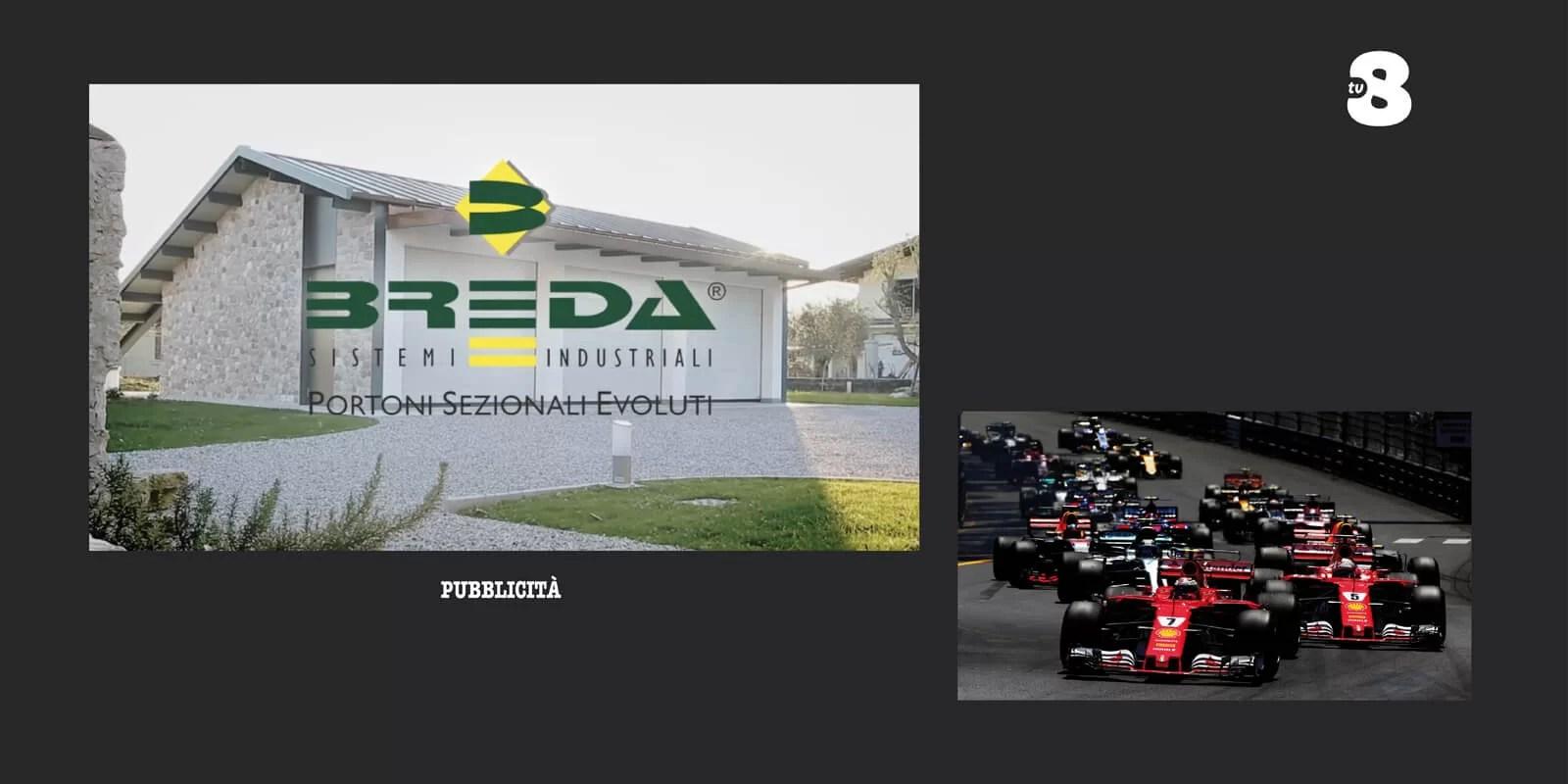 Breda Portoni al GP di Montecarlo su TV8