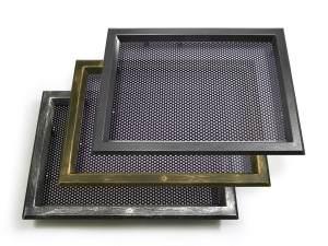 In ABS 525x350 con griglia di ventilazione, cromo maculato, bronzo e carbonio