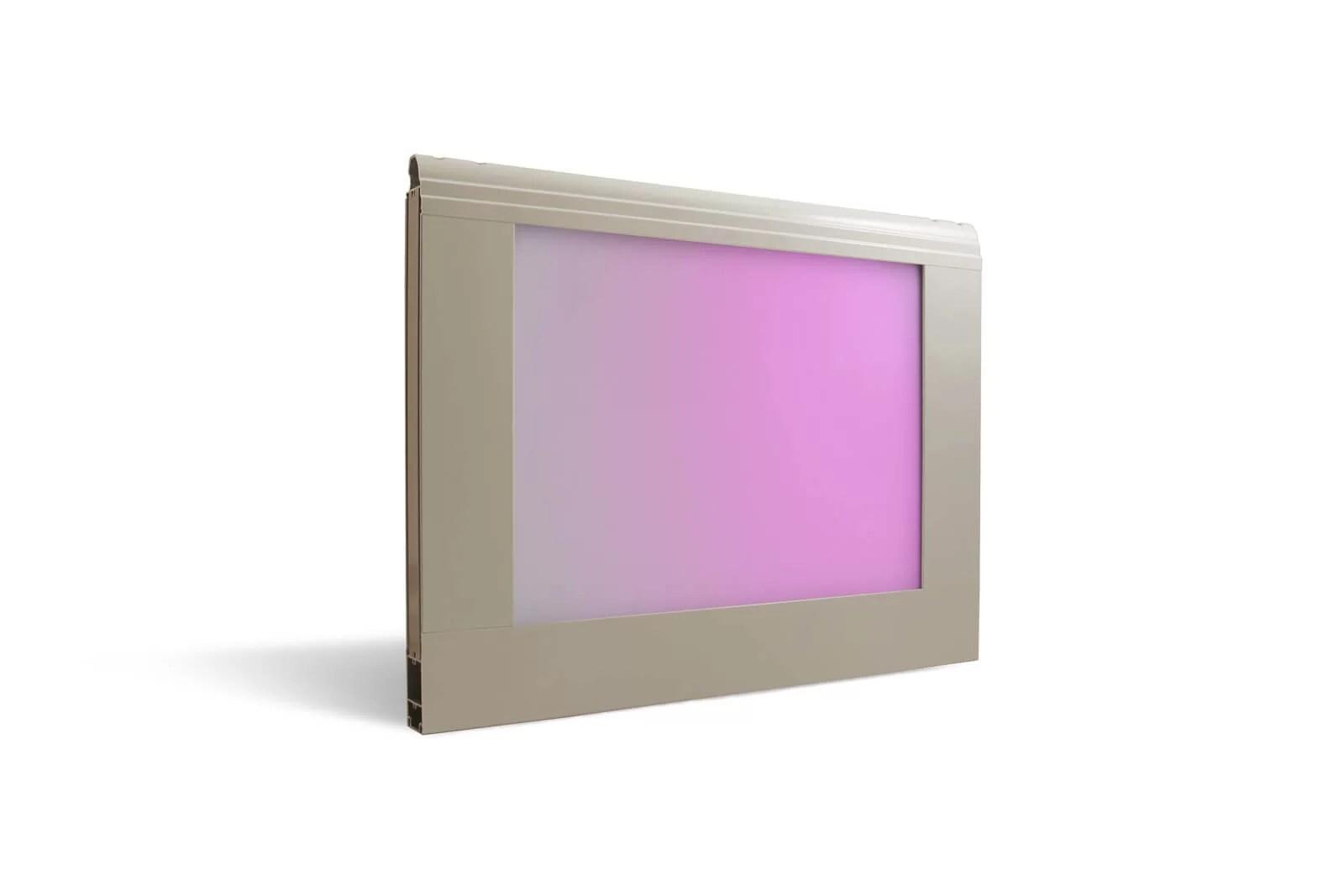 Sezione Visa - Acrilico opalino iridescente viola