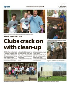 CricketForce report in the Worcester News
