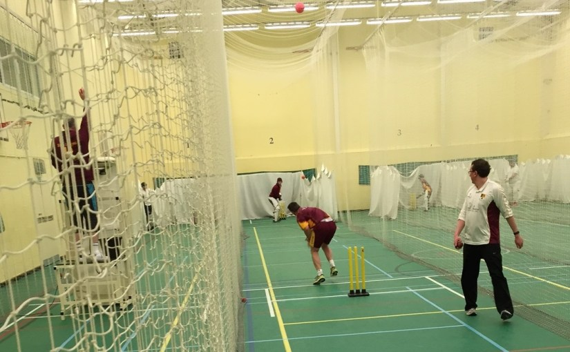Nets practice for senior and junior cricketers