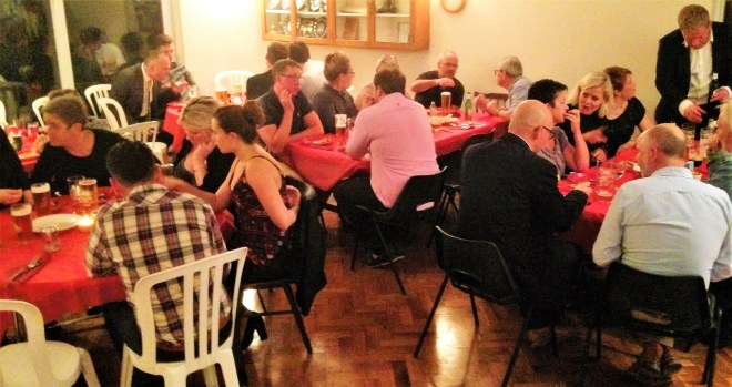 Bredon's end of season dinner 2016