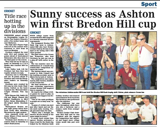 How the Evesham Journal reported the Bredon Bash finals day