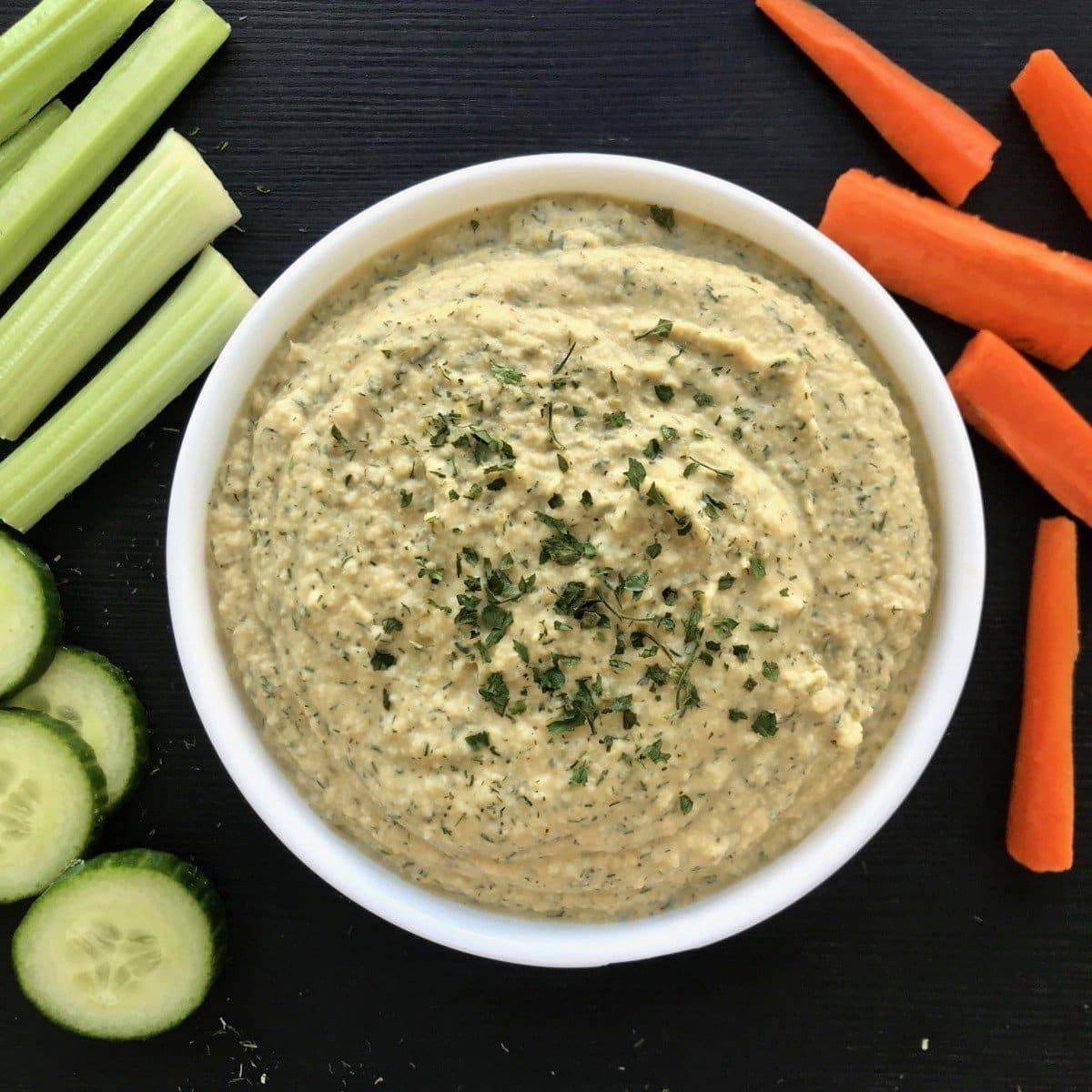 Dill Pickle Hummus