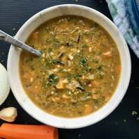 Healthy Vegan Wild Rice Soup