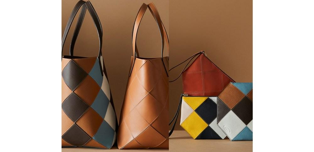 TOD'S- 回收皮革-限量彩色拼貼包