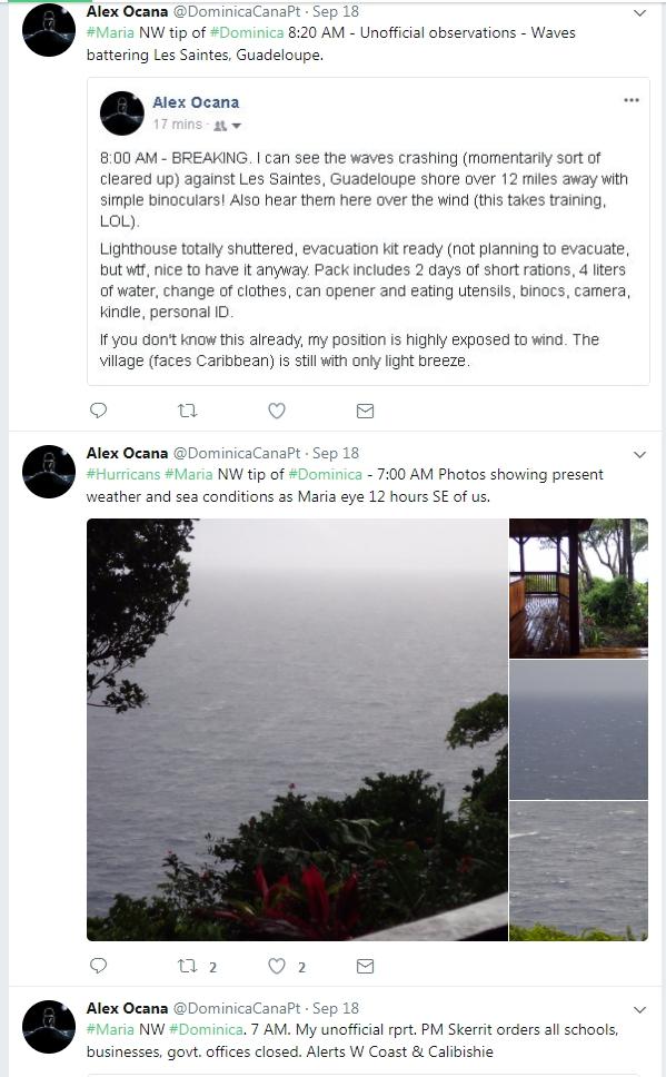 Lighthouse Keeper Tweet