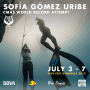 Sofia Gomez Uribe during her record breaking dive in BiFins