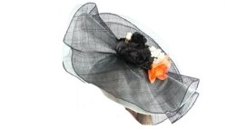 Sweet Layered Sinamay Flowers Fascinator