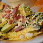 Bacon Spinach Feta Omelet