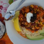 Carrot Basil Chili with Goat Cheese