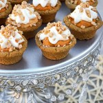 Mini Pumpkin Cheesecake Gingersnap Pies