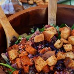 Maple Roasted Sweet Potato and Cranberry Quinoa Salad