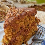 Gluten Free Carrot Zucchini Cake with Chocolate Sour Cream Frosting