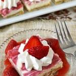Gluten Free Lower Fat Strawberry Cheesecake Bars