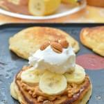 Gluten Free Peanut Butter n' Honey Pancakes
