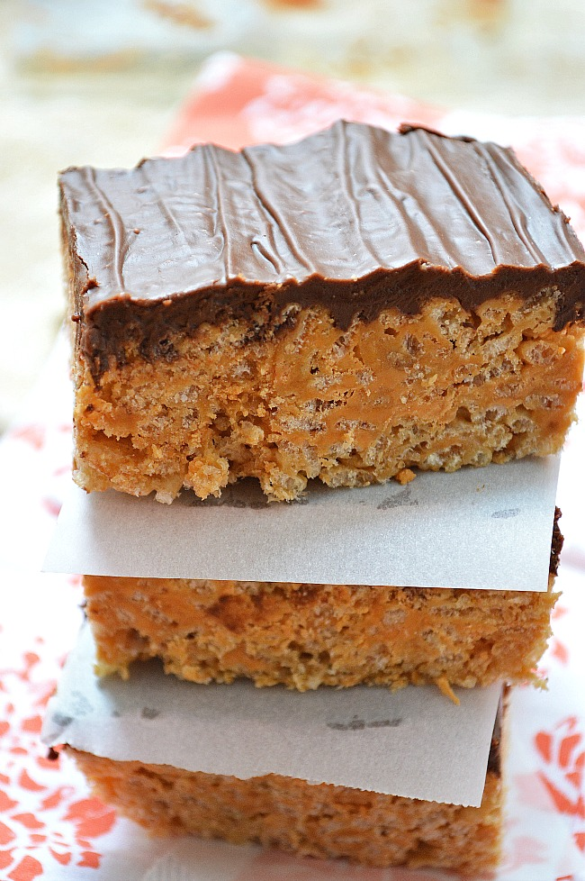Melted brown sugar makes these Gluten Free Butterscotch Brown Sugar Crispy Rice Squares extra flavorful. Plus, who doesn't love melted chocolate on top?!